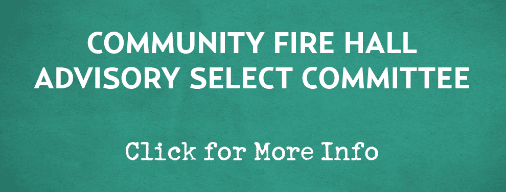 Community Fire Hall Advisory Committee